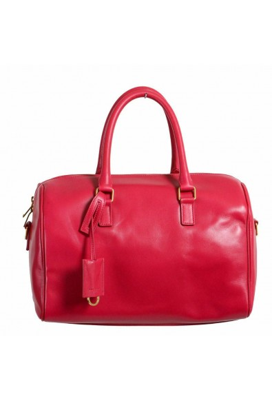 Saint Laurent Women's Fuxia Pink Calfskin Leather Classic Duffle 6 Bag: Picture 2