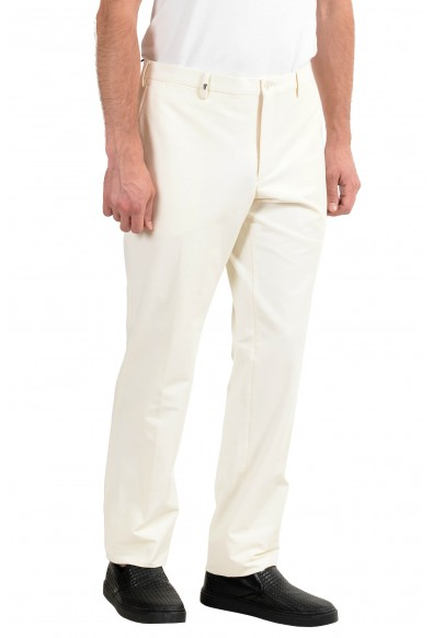 Versace Collection Men's White Stretch Casual Pants: Picture 2
