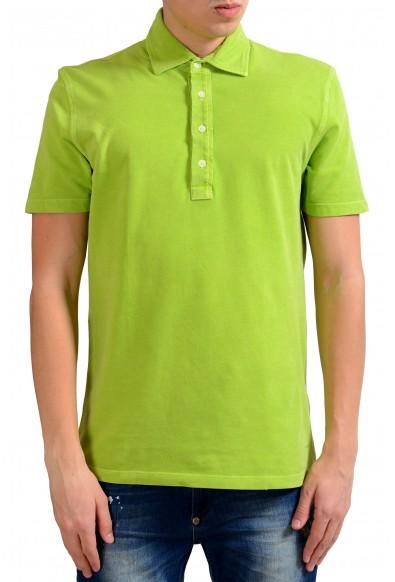 Malo Men's Bright Green Short Sleeve Polo Shirt