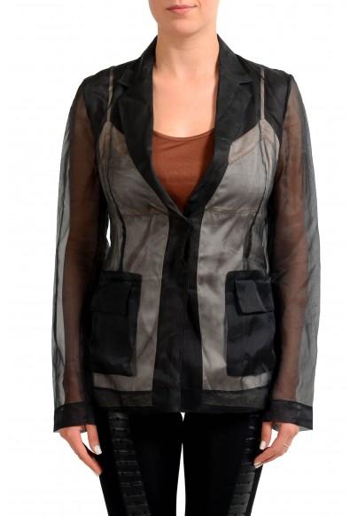 Maison Margiela 1 100% Silk Multi-Color Women's Blazer