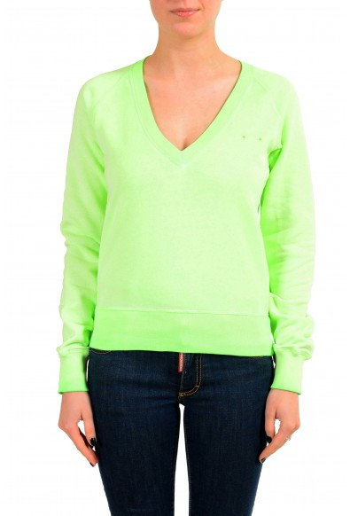 Dsquared2 Women's Green V-Neck Sweatshirt