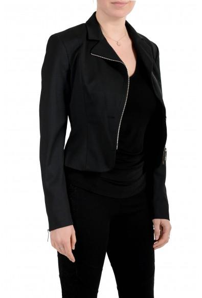 Versace Jeans Couture Women's Black Wool Zip Up Blazer Jacket : Picture 2