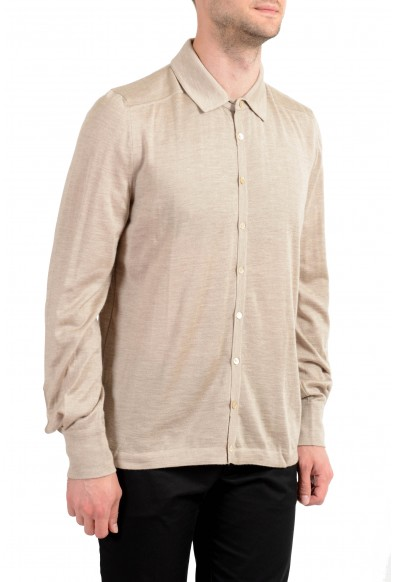 Malo Men's Cashmere Silk Beige Long Sleeve Casual Shirt : Picture 2