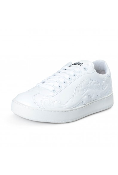 Versace Collection Men's White Leather Fashion Sneakers Shoes