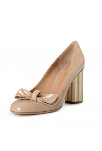 "Salvatore Ferragamo Women's ""AVOLA85"" Patent Leather High Heel Pumps Shoes"