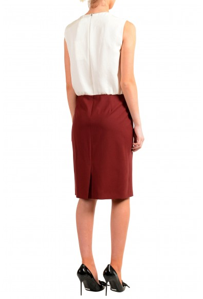 "Hugo Boss Women's ""Domona"" Two Tone Wool Sleeveless Pencil Dress : Picture 2"