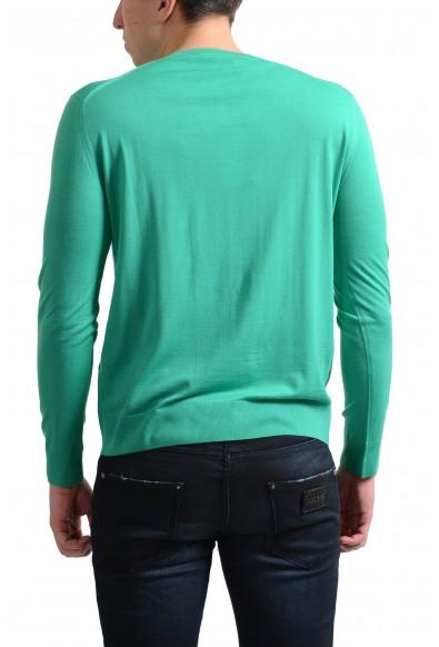 Prada Men's 100% Wool Light Green V-Neck Pullover Sweater: Picture 2