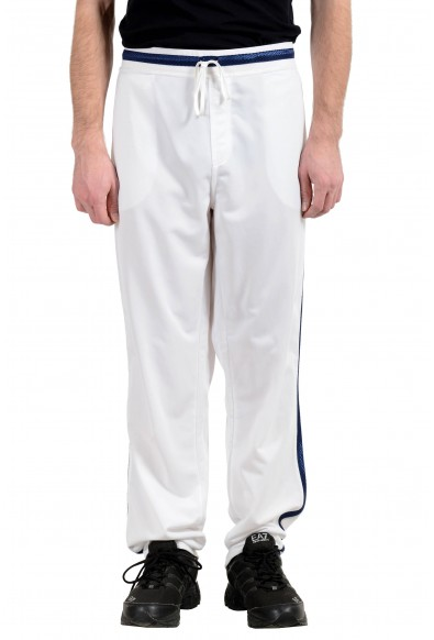 Roberto Cavalli Gym Men's White Fleece Track Sweat Pants