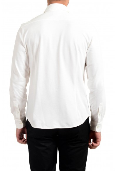 Malo Men's White Stretch Long Sleeve Casual Shirt : Picture 2