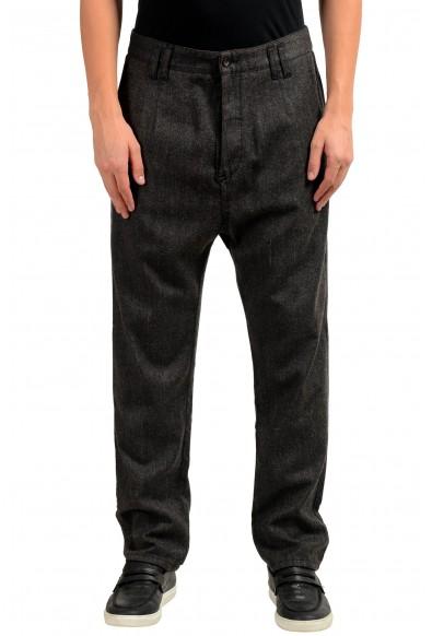 Dolce & Gabbana Men's Wool Gray Striped Dress Pants
