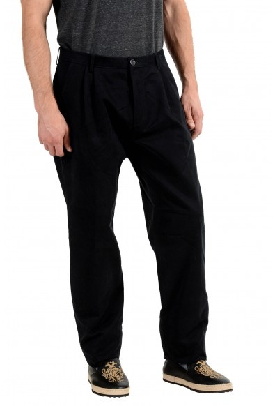 Burberry Men's Navy Blue Pleated Casual Pants: Picture 2
