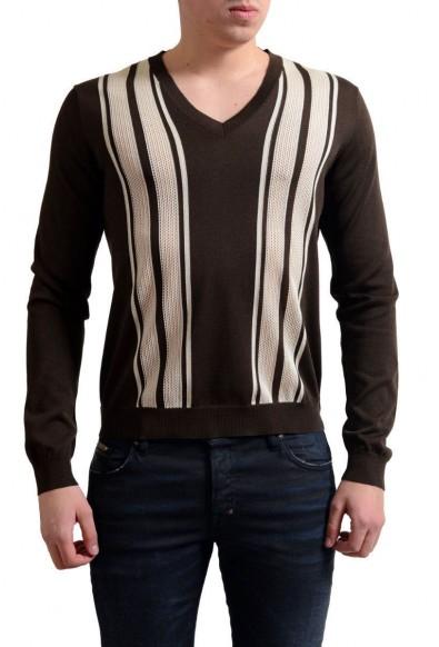 Prada Men's Multi-Color Silk V-Neck Sweater