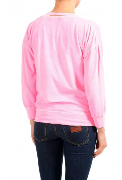 Dsquared2 Women's Pink V-Neck Sweatshirt: Picture 2
