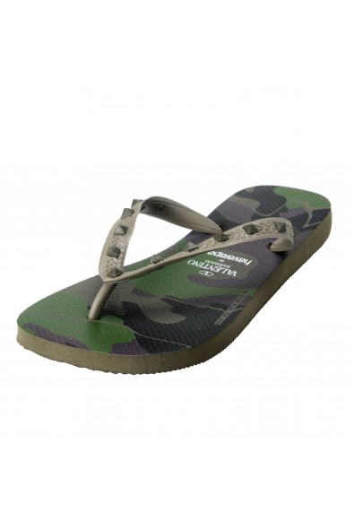 Valentino Garavani By Havaianas Women's Rockstud Camouflage Flip Flops Shoes