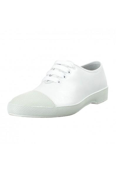 Prada Men's White Leather Fashion Sneakers Shoes