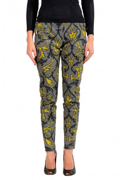 Just Cavalli Women's Multi-Color Wool Flat Front Pants