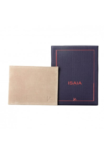 Isaia 100% Leather Beige Men's Bifold Wallet: Picture 2