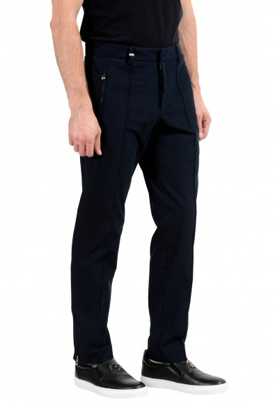 Versace Collection Men's Navy Blue Casual Pants: Picture 2