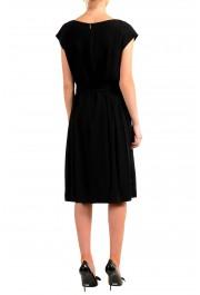 "Hugo Boss Women's ""Drapena"" Black Belted Sleeveless Dress: Picture 3"