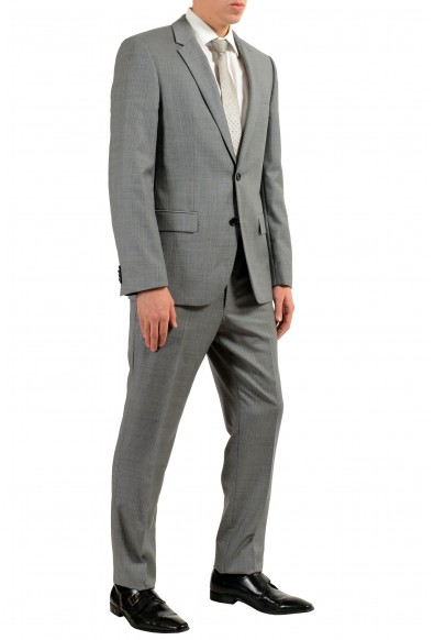"""Hugo Boss """"Halsey2/Merill2"""" Men's 100% Wool Gray Striped Two Button Suit: Picture 2"""