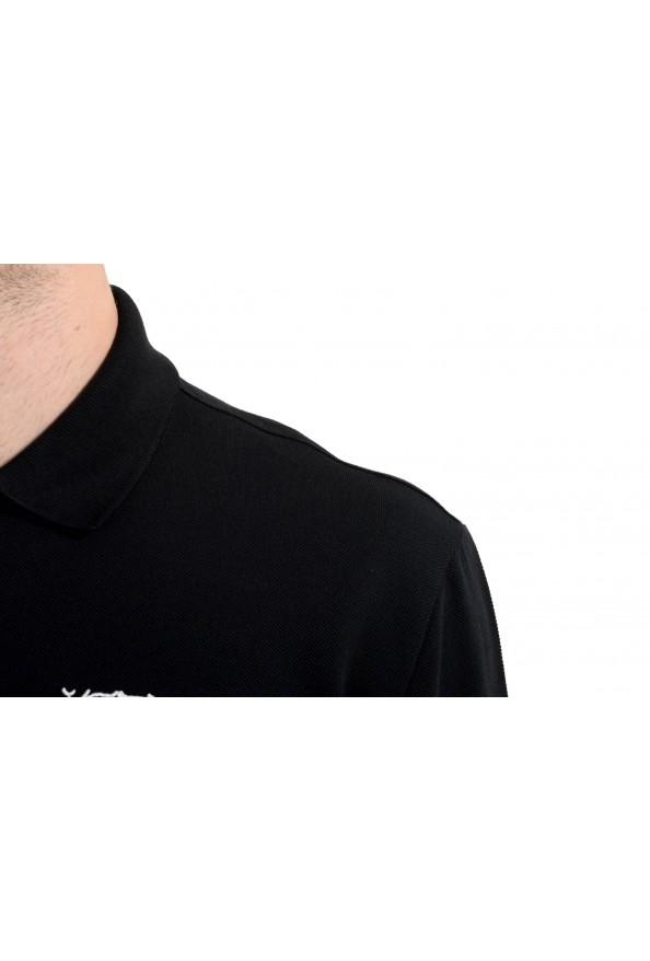 Versace Collection Men's Black Logo Short Sleeve Polo Shirt: Picture 5