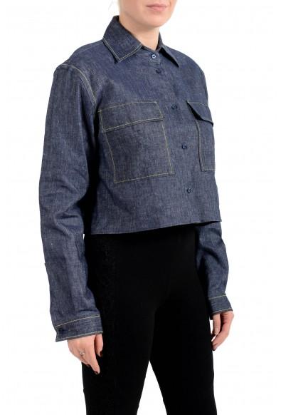 "Hugo Boss Women's ""Entalis"" Blue Denim Button Down Blazer : Picture 2"