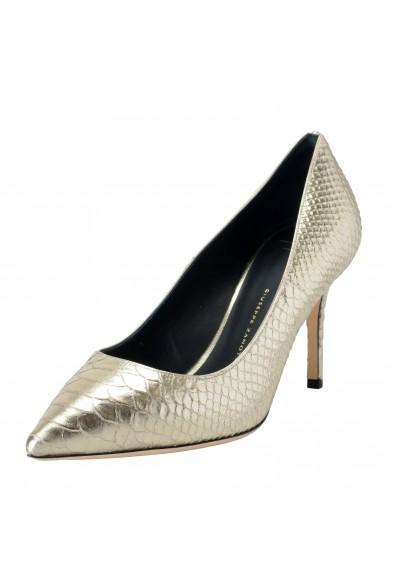 Giuseppe Zanotti Design Women's Python Skin Silver High Heels Pumps Shoes