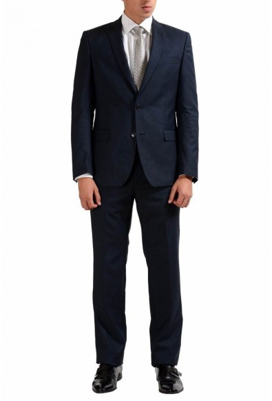Versace Collection Blue Men's 100% Wool Two Button Suit