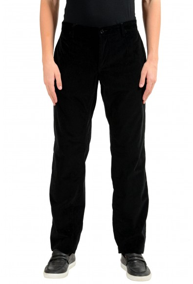 Dolce & Gabbana Men's Black Velour Casual Pants