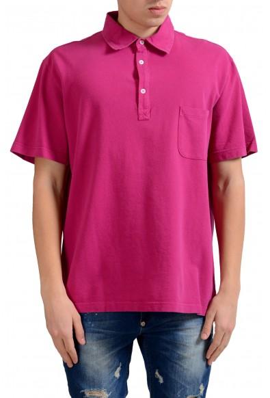 Malo Men's Magenta Pink Short Sleeve Polo Shirt