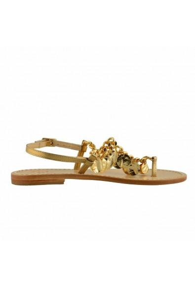 """Emanuela Caruso """"Capri"""" Women's Golden Flat Sandals Shoes: Picture 2"""