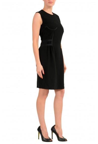 Maison Margiela 1 Women's Black Wool Sleeveless Sheath Dress: Picture 2
