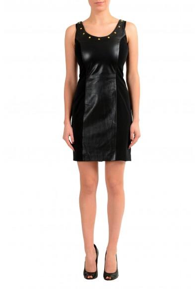 Versace Versus 100% Leather Black Women's Sheath Dress