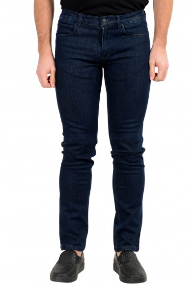 "Hugo Boss Men's ""Hugo 708"" Slim Fit Dark Blue Wash Stretch Jeans"