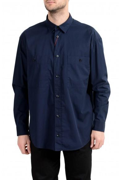 """Hugo Boss """"Ennon"""" Men's Navy Blue Long Sleeve Casual Shirt"""