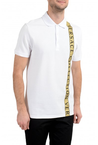 Versace Collection Men's White Short Sleeve Polo Shirt: Picture 2