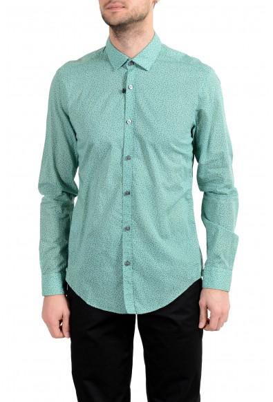 "Hugo Boss ""Rikki"" Men's Slim Green Long Sleeve Casual Shirt"
