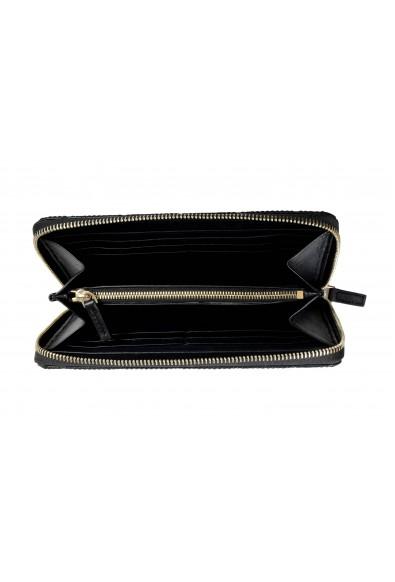 Versace Women's Black 100% Textured Leather Zip Around Wallet: Picture 2