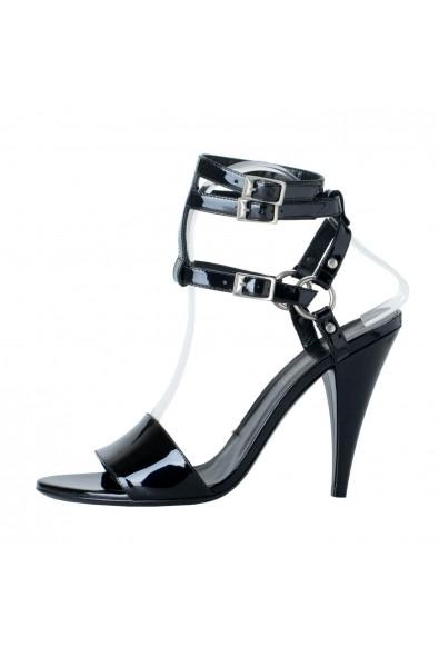 Saint Laurent Women's Black Patent Leather High Heel Ankle Strap Pumps Shoes: Picture 2