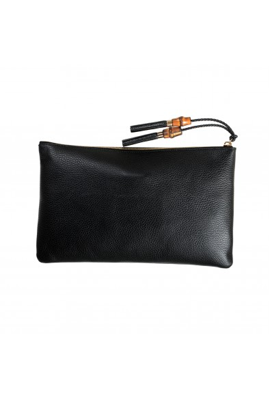 Gucci Women's Textured Leather Black Large Clutch: Picture 2
