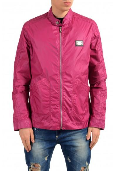 Dolce & Gabbana Men's Raspberry Full Zip Windbreaker Jacket