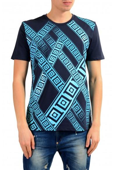 Versace Collection Men's Blue Graphic Print T-Shirt