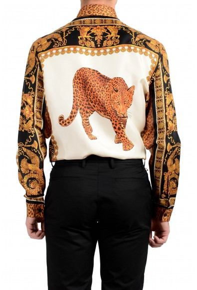 Versace Men's 100% Silk Barocco Print Long Sleeve Dress Shirt: Picture 2