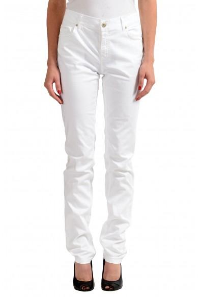 Versace Jeans White Women's Straight Leg Denim Jeans