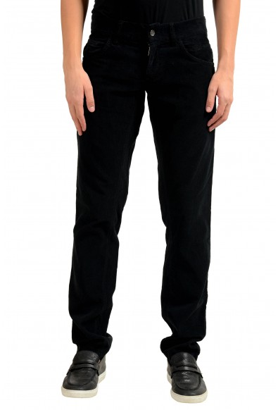 Dolce & Gabbana Men's Black Corduroy Casual Pants