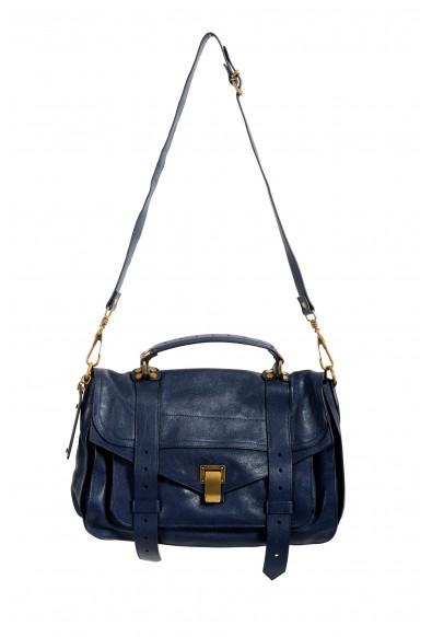Proenza Schouler Women's Midnight Blue Leather Handbag Satchel Shoulder Bag