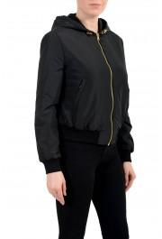 Versace Women's Black Zip Up Hooded Bomber Jacket : Picture 2