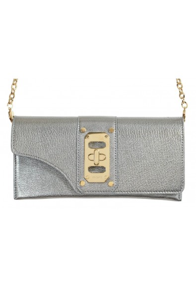 Versace 100% Leather Gray Women's Crossbody Shoulder Bag: Picture 2