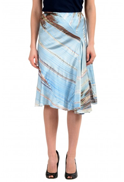 Roberto Cavalli Women's Multi-Color 100% Silk Asymmetrical Skirt
