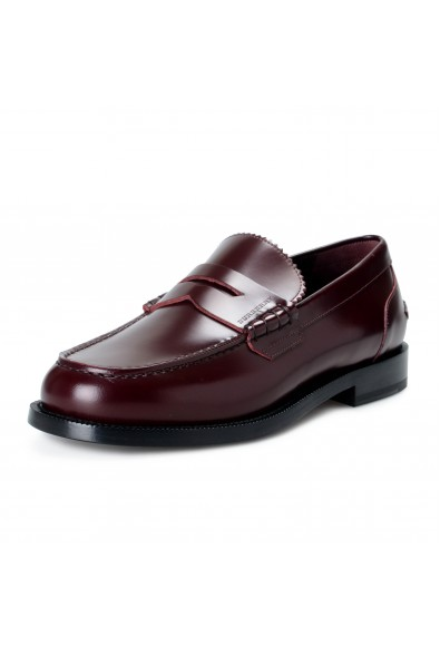 """Burberry Men's """"BEDMONT"""" Burgundy Leather Loafers Slip On Shoes"""